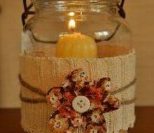 cozy sweater crafts, crafts, mason jars, repurposing upcycling