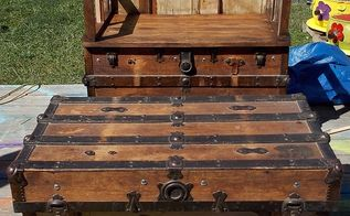steamer trunk up cycle, Here is the after