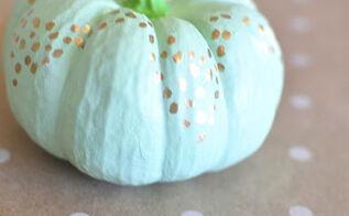 no carve mint gold pumpkin foil pen, chalkboard paint, crafts, halloween decorations, seasonal holiday decor