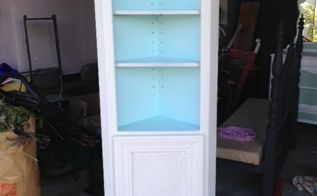 painted furniture corner shelf cabinet upcycle, chalk paint, painted furniture, repurposing upcycling, shelving ideas
