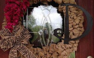 burlap fall wreath michaels flowers monogram, crafts, seasonal holiday decor, wreaths