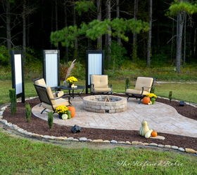 Backyard Ideas Firepit Outdoor Furniture Makeover, Concrete Masonry,  Landscape, Outdoor Living, ...