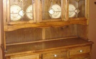 painted furniture hutch antique redo, chalk paint, painted furniture