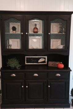painted furniture hutch antique redo, chalk paint, painted furniture, And the After