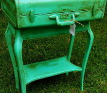 upcycle suitcase table combo painted, painted furniture, repurposing upcycling, shabby chic