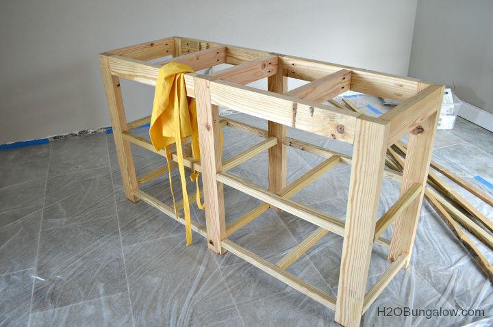 Build An Open Shelf Bathroom Vanity Hometalk - Diy open shelf vanity