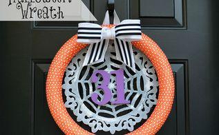 wreath halloween decorations door, crafts, halloween decorations, seasonal holiday decor, wreaths