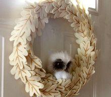 owl wreath knockoff, crafts, wreaths