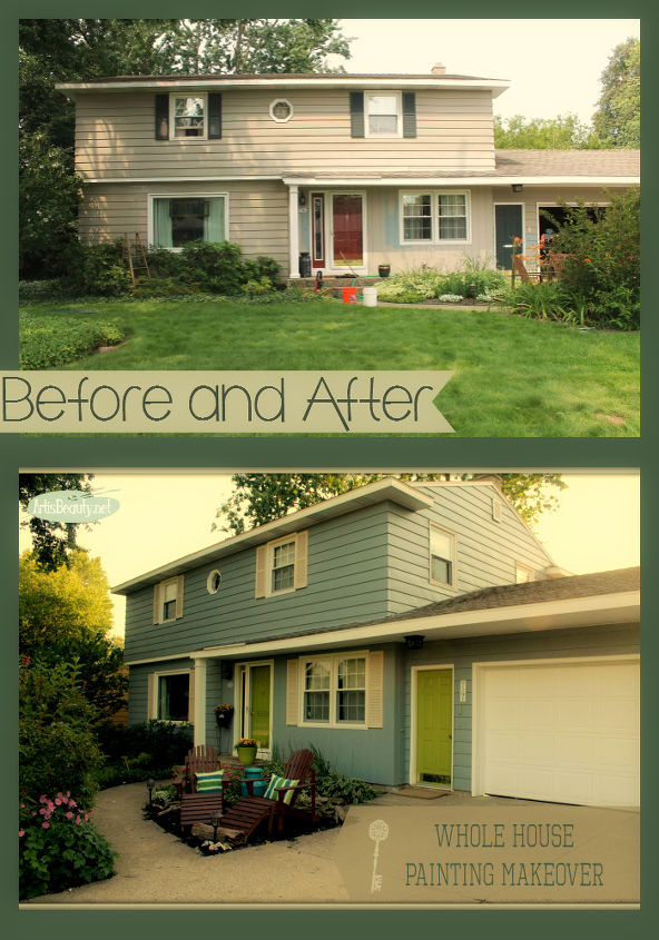 Whole house exterior painted makeover hometalk for Home exterior makeover ideas