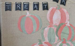 halloween trick or treat burlap art, crafts, halloween decorations, seasonal holiday decor