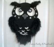 crafts feathered owl wall hanging, crafts, seasonal holiday decor
