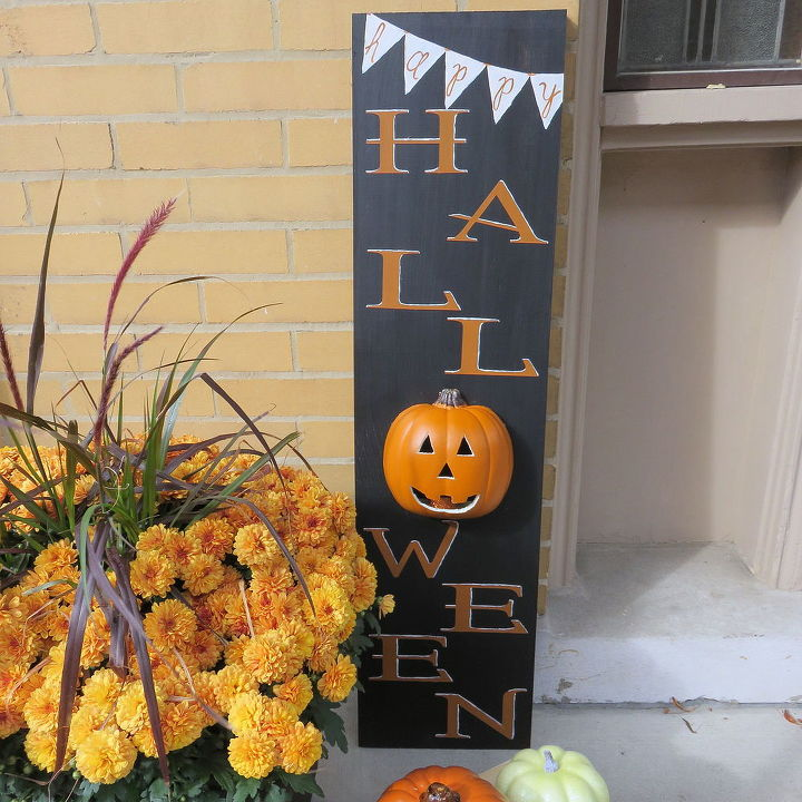 diy light up happy halloween sign crafts halloween decorations seasonal holiday decor - Halloween Decorations Crafts