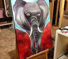elephant art, crafts, home decor, wall decor
