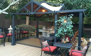 outdoor kitchen entertaining area, decks, landscape, outdoor furniture, outdoor living