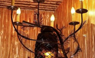 rustic iron base candle lights chandelier for holiday, lighting