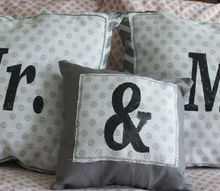 crafts mr mrs pillow set, crafts
