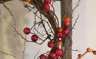 wreath fall berries dollar store grapevine, crafts, seasonal holiday decor, wreaths