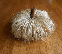 crafts twine fall pumpkins, crafts, halloween decorations, seasonal holiday decor