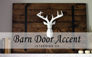 diy barn door accent, diy, fireplaces mantels, home decor, seasonal holiday decor