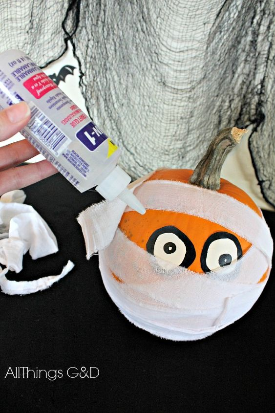 Halloween decoration mummy pumpkin hometalk - Making a pumpkin keg a seasonal diy project ...