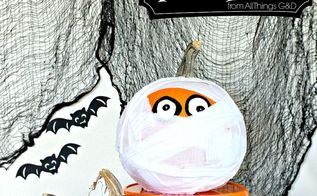 halloween deecorations mummy pumpkin, crafts, halloween decorations, seasonal holiday decor