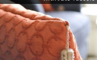diy throw pillows with diy jute tassels, crafts, diy, how to, reupholster