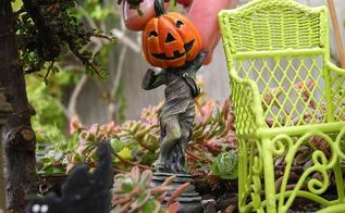 fairy garden halloween decorations, gardening, halloween decorations, seasonal holiday decor