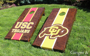 diy recessed cornhole, diy, outdoor living, painted furniture, woodworking projects