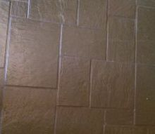 q how to remove paint from slate flooring, flooring, how to, painting, Painted slate floor