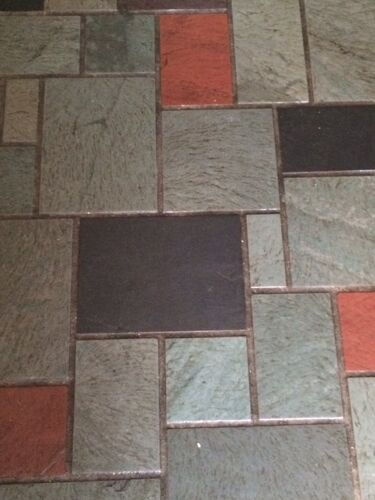 Slate Floor Tiles Painting Over