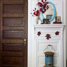 doors mantle upcycle fall, doors, fireplaces mantels
