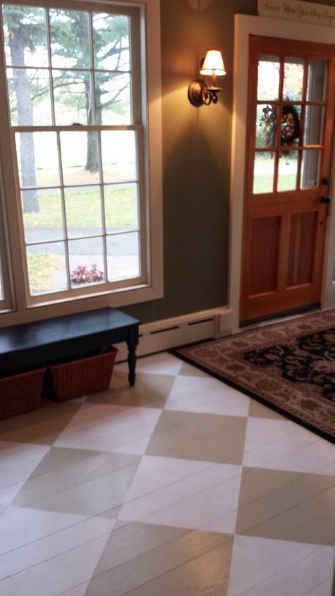 Foyer Paint Jobs : Foyer painted floor makeover hometalk