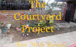 courtyard project diy makeover part one, diy, gardening, outdoor living