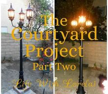 courtyard project diy makeover part two, diy, electrical, lighting, outdoor living