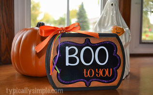 boo to you halloween sign, crafts, halloween decorations, seasonal holiday decor