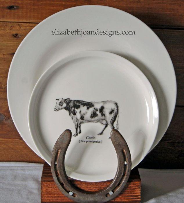 Diy Rustic Horseshoe Plate Holder Hometalk