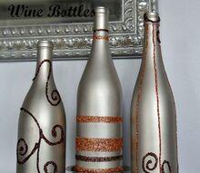 crafts fall wine bottle decor, halloween decorations, home decor, repurposing upcycling, seasonal holiday decor