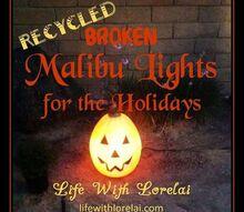 recycle broken malibu lights for the holidays diy, christmas decorations, diy, halloween decorations, how to, seasonal holiday decor