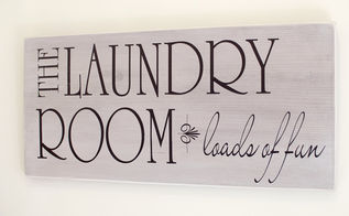 diy laundry room sign, crafts, diy, home decor, laundry rooms, wall decor
