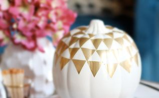 diy gold duct tape pumpkin, crafts, halloween decorations, seasonal holiday decor
