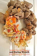 wreath painted canvas flower burlap, crafts, seasonal holiday decor, wreaths