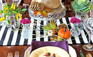 unique fall tablescape, container gardening, home decor, seasonal holiday decor