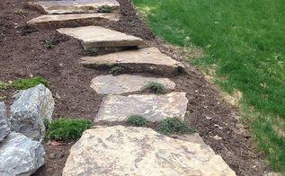 landscaping natural stone steps, concrete masonry, landscape