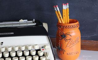 mason jars halloween decorations painted, crafts, halloween decorations, mason jars, repurposing upcycling, seasonal holiday decor