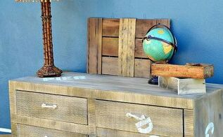 faux painted cargo furniture, painted furniture