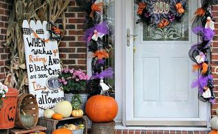 halloween decorations front porch, halloween decorations, porches, seasonal holiday decor