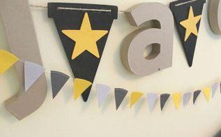 diy nursery name garland, bedroom ideas, crafts, wall decor