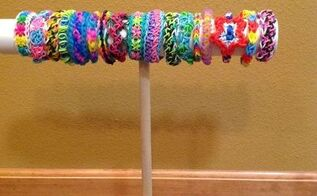 diy pvc bracelet display stand, crafts, organizing