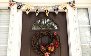 fall flag banner tutorial, crafts, seasonal holiday decor
