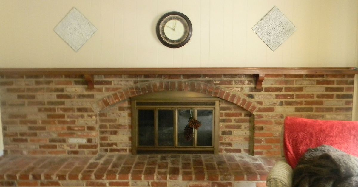 My Whitewashed Brick Mantel For Fall Hometalk
